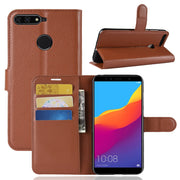 "For Huawei Honor Note 10 8X Play 7C 7A 7S Litchi Skin Leather Cover Protection Phone Case Funda Honor 7A 5.45"" (Russian) DUA-L22"