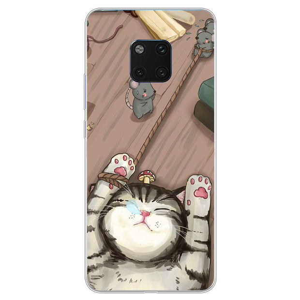 For Huawei Mate 20 Pro Case Cartoon Soft Silicon TPU Back Cover For Huawei Mate20 Pro Protector Phone Cases Mate 20pro Fundas