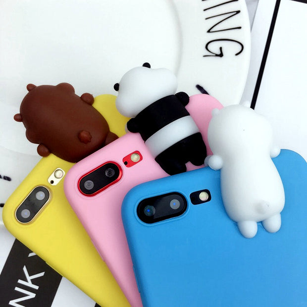For Huawei Mate 9 Mate 9 Lite Cover 3D Cute Cartoon We Bare Bears Brothers Funny Toys Soft Phone Case For Huawei Mate 9 Pro Case