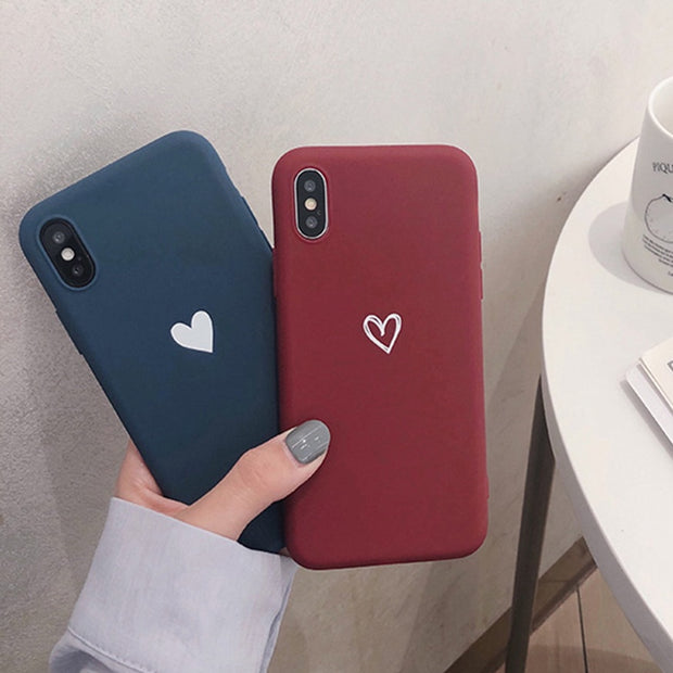 For Huawei P20 Lite Nova 3e Case Love Heart Print Back Cover For Huawei P20 Pro Nova 3i P10 Plus Retro Lovely Matte Soft Cases
