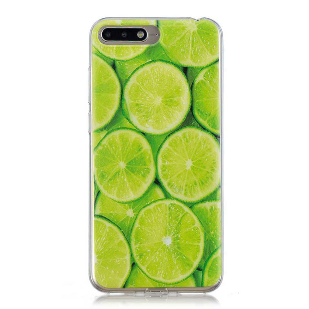 For Huawei P20 P10 P9 P8 Lite 2017 Cases Capa Fresh Fruit Lemon Soft Shell Mate 10 Lite Coque Funda For Honor 5C 6A 6C 6X 7C 8 9