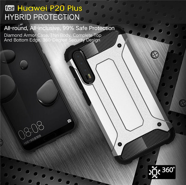 For Huawei P20 Pro Hybrid Armor Tough Shockproof Case For P8 P9 Lite 2017 P10 Plus Rugged Back Cover Mate 8 9 10 Pro Nova Lite