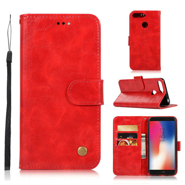 For Huawei Y7 Prime 2018 Case Honor 7C Pro Case Flip Luxury Wallet PU Leather Cover Phone Case For Huawei Y7 Prime 2018 5.99""
