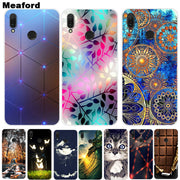 For Huawei Y9 2018 Case Y9 2019 Soft Silicone Back Cover Bag Cartoon Phone Case For Huawei Y9 2019 Y 9 2018 Case Funda Shell