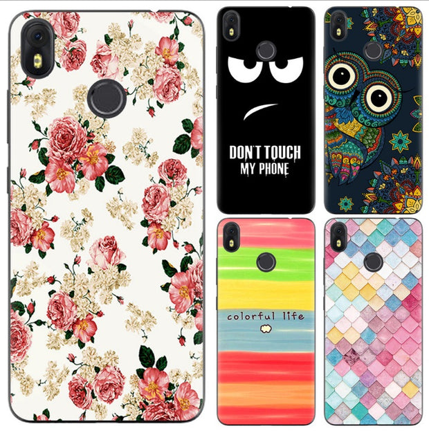 For Infinix Hot S3 X573 Phone Case 5.65 Inch Thin Soft TPU Back Cover Cases Flower Pink Rose Flamingo Husky Unicorn Pattern