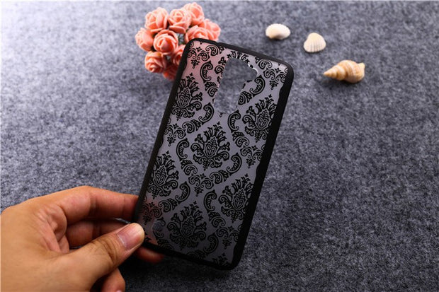 For LG K10 / M2 F670 Case High Quality Painted Hollow Out Flower Styles Hard PC Plastic Case For LG K10 / M2 F670 Cover T007
