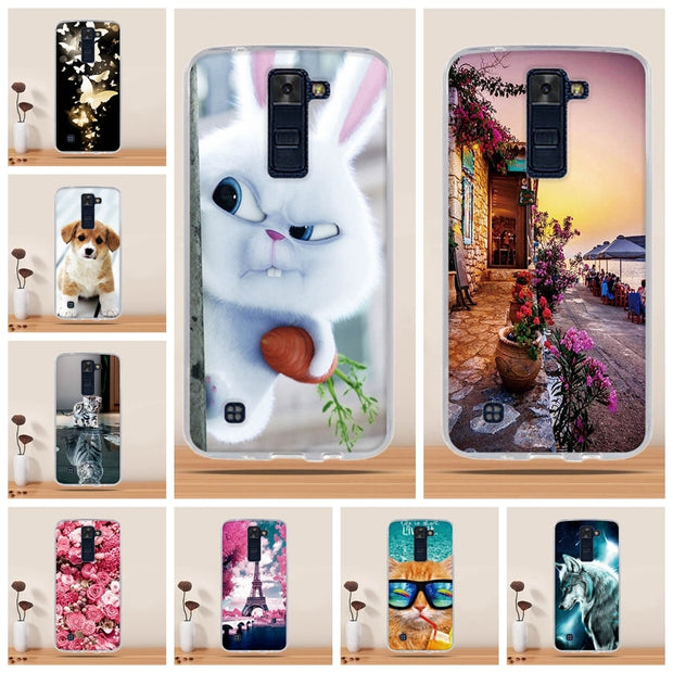 "For LG K8 Case Cover Silicon Phone Cover For LG K8 Lte K350 K350E K350N 5.0"" K8 Cover Bag Cases For LG K8 Phone Case Cartoon TPU"