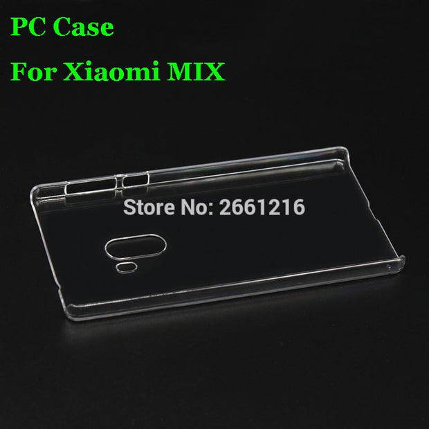 For Mi Mix Hard PC Case Ultra Thin Clear Hard Plastic Cover Protective Skin For Xiaomi MIX Mi X 6.4""