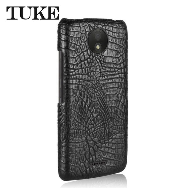 buy online 91197 40740 For Motorola Moto C Plus Case Crocodile Pattern Leather Back Cover ...