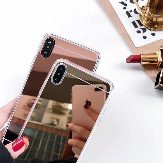 For OPPO A37 A57 A39 A59 A77 Case Luxury Mirror Case Soft TPU Cover For Oppo R11 Plus F5 F7 F9 A83 Back Cover Shell