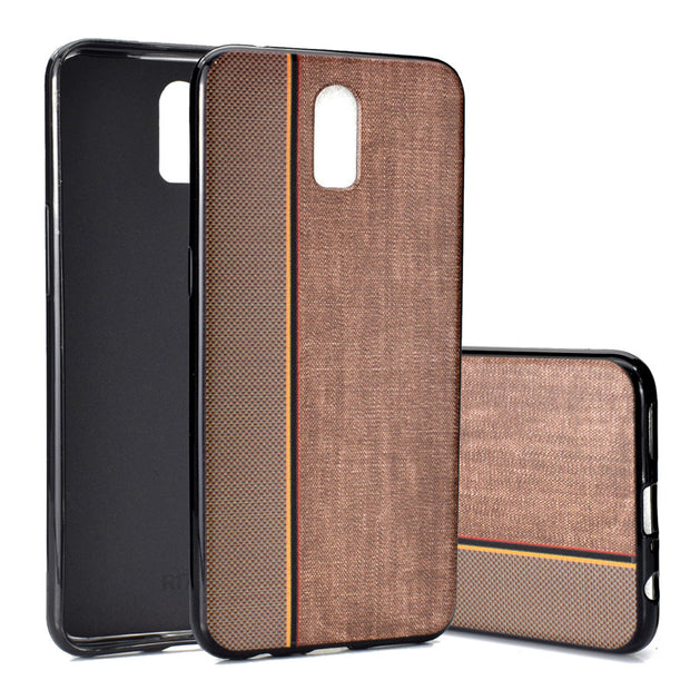 For OPPO R17 Case Cover Splicing Cowboy Pattern Soft TPU Mobile Phone Cases Back Covers