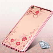 For Redmi 6 Pro 6A 5A 4X 5 Note 5A 4X Case Silicone Glitter Flower Bling Diamond Bumper Cover For Xiaomi Mi8 SE 6X Case Soft TPU