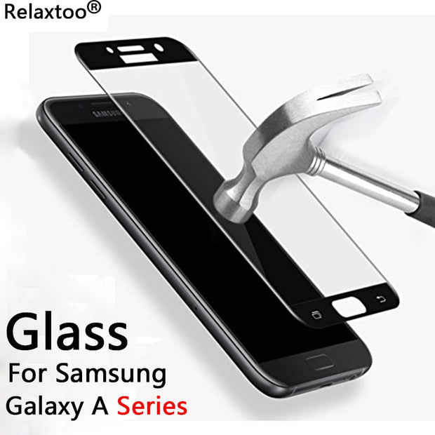 For Samsung A5 2017 Glass Screen Protector Glass Case For Samsung Galaxy A6 A8 Plus 2018 A3 2016 A5 2017 A7 Tempered Glass Film