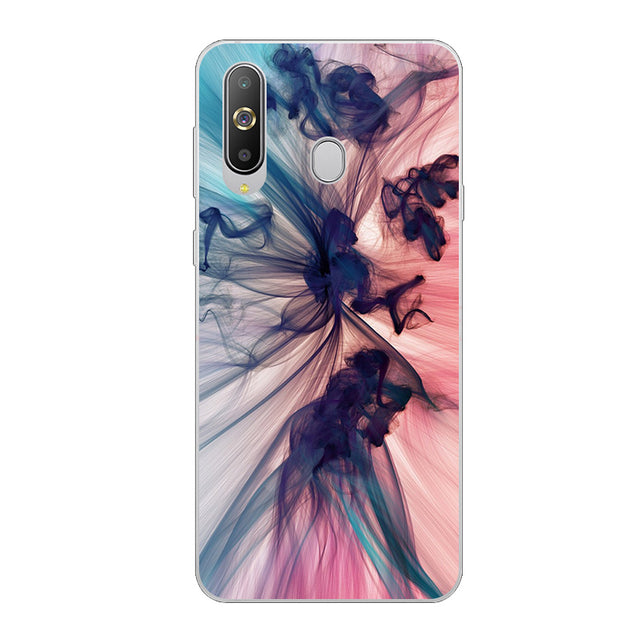 "For Samsung A8s Case 6.4"" TPU Soft Phone Case For Samsung Galaxy A8S A 8s A8 S Case Silicone Cute Cartoon Floral Painting Cover"