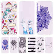 For Samsung Galaxy A7 2018 Case Slim Silicon Soft TPU Cartoon Unicorn Cover On For Samsung A7 2018 A750F A750 SM-A750F A 7 2018