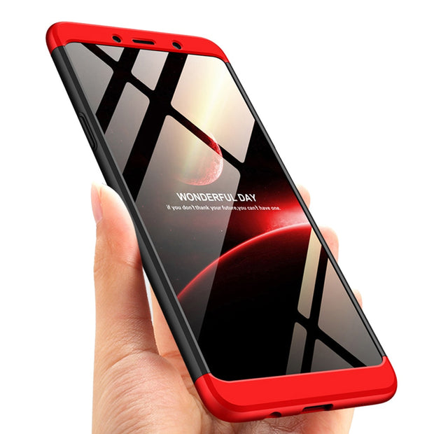 For Samsung Galaxy A9 2018 A920F A920 Case 3in1 Full Body Protective Armor Case +Tempered Glass Screen Protector Anti Drop Cover