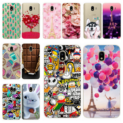 For Samsung Galaxy J4 2018 Soft Silicone Case Cover Printing Cute For Samsung J 4 2018 400 F J400 J400F Phone Cases Coque Capa