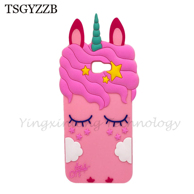 For Samsung Galaxy J4 Plus 3D Silicon Unicorn Cat Cartoon Soft Phone Cover Case For Samsung J4 Plus 2018 J4Plus J415F J415 J4+