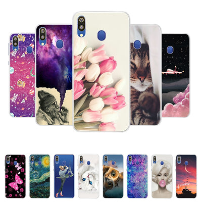 For Samsung Galaxy M20 Cases Galaxy M20 M205f Cover Soft Silicone Phone Back Cover For Samsung Galaxy M10 M20 Case Bumper Coque