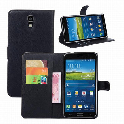 For Samsung Galaxy Mega 2 Case Cover,Lychee Leather Wallet Stand Phone Case Cover For Samsung Galaxy Mega 2 G750F G7508Q