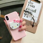 For Samsung Galaxy Note 9 Note8 Cute Kitty Bear Phone Case For Samsung Note 9 Note 8 Lovely Cartoon 3D Grip Stand Holder Cover