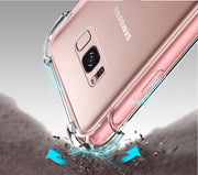 For Samsung Galaxy S8 Plus S7 S6 Edge J3 J5 J7 2016 2017 A320 A720 Note 8 5 4 Anti Knock Case Fundas Clear Back Cases Capa