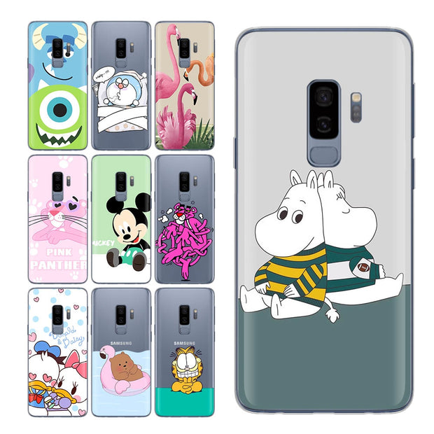 For Samsung Galaxy S9 Case Cute Bear Pink Cat For S9 Case Cute Duck Case For Funda Samsung Galaxy S9 S7 Edge S8 Plus S8 S9 Cpque