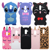For Samsung J4 J6 J8 Case Cover Cute 3D Unicorn Stitch Cat Silicone Soft Back Phone Case For Samsung Galaxy J4 J6 J8 2018 Coque