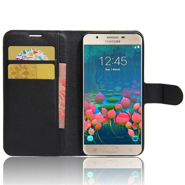 For Samsung J5 Prime SM-G570F Case Luxury PU Leather Back Cover Case F –  Copper Cases