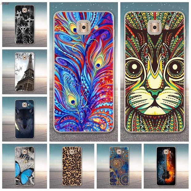 For Samsung J7 Max Case G615 SM-G615F Luxury Cartoon TPU Case Cover For Samsung J7 MAX Silicone Phone Protective Back Cover Skin
