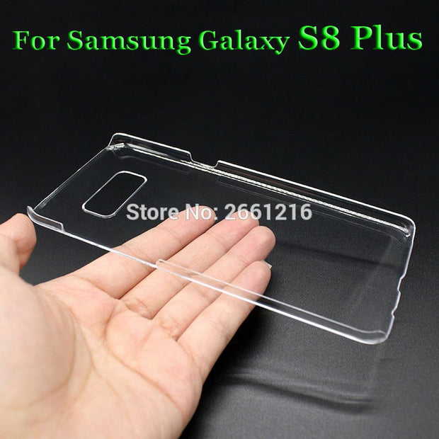 For Samsung S8+ G9550 Hard PC Case Ultra Thin Clear Hard Plastic Cover Protective Skin For Samsung Galaxy S8 Plus 6.2 Inch