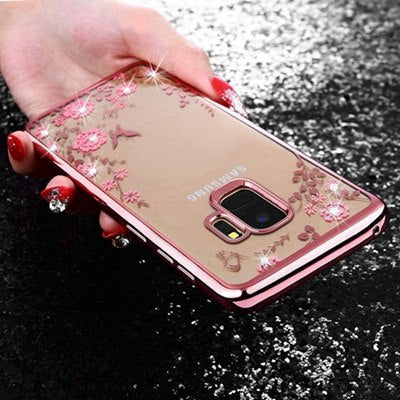 Flower tpu rose gold