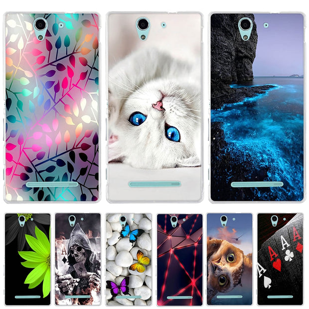 For Sony Xperia C3 D2533 Case Silicone Cover For Sony Xperia C3 Case Coque Capa Funda For Sony Xperia C3 Dual D2502 Back Cover