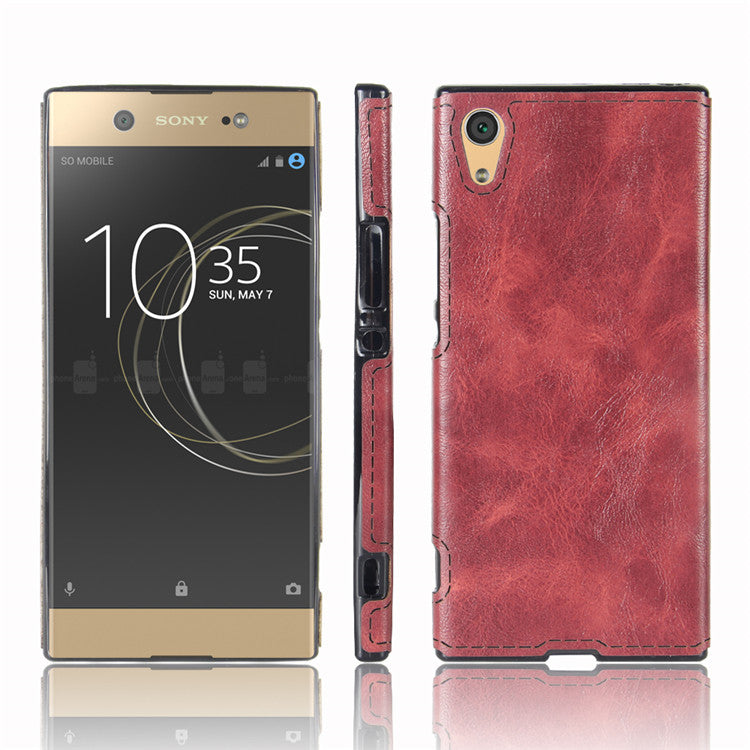 check out 66891 28d0d For Sony Xperia XA1 Soft Silicone Case Luxury Leather Back Cover For Sony  Xperia XA1 Dual G3112 G3116 G3121 G3123 Case Fundas