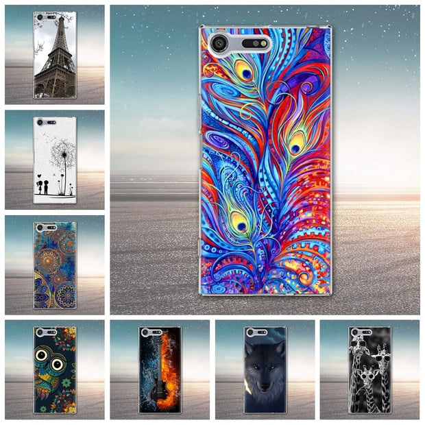 For Sony Xperia XZ Premium Case Silicone Cover Cool Cartoon Painting Soft Tpu Case For Sony Xperia XZ Premium Cover