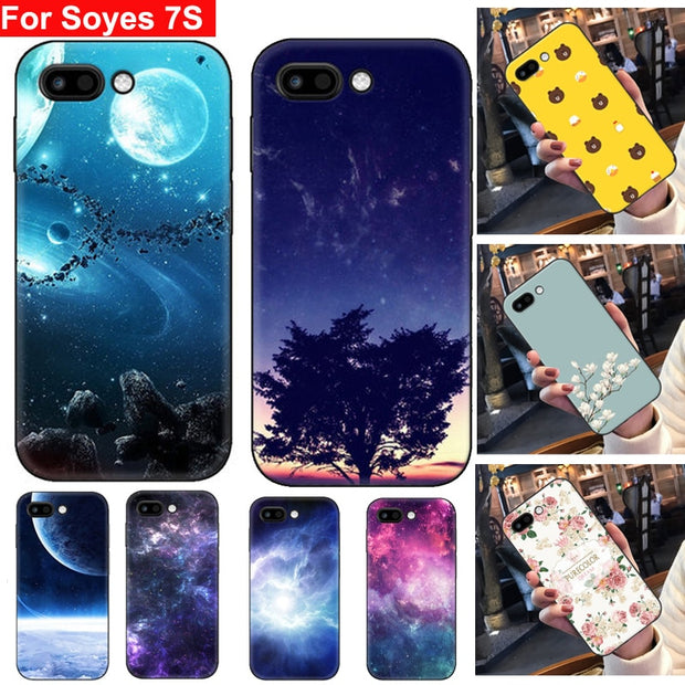 For Soyes 7S Case Cover Soft Cases Soyes7S Back Cover For Soyes 7 S Phone  Case Shell For Soyes 7S Mini Phone Cases Screen Film