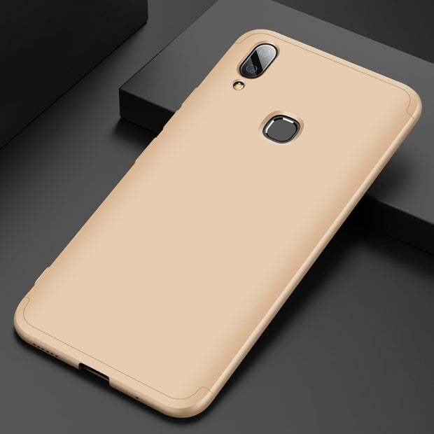 For Vivo X21i Case 6.28inch Original 360 Degree Full Cover PC Protective Back Cover For ViVO X21i Mobile Phone Case