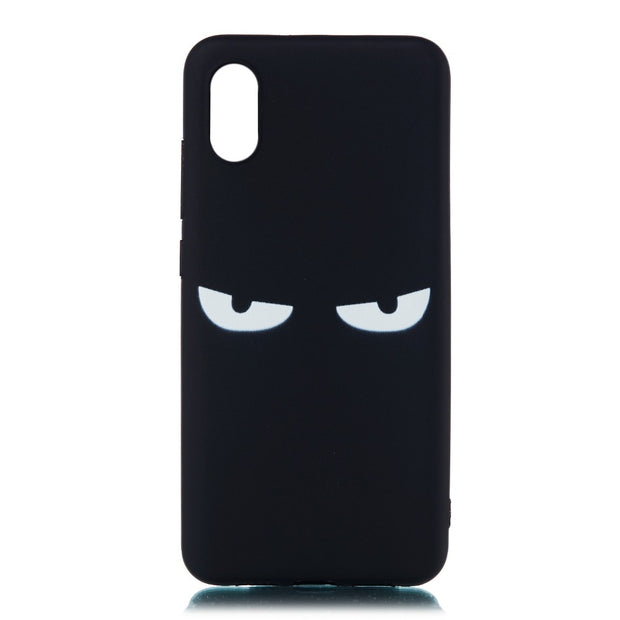 For Xiaomi Mi 8 Case Silicon Xiaomi Mi 8 Pro Case Mi8 SE Cover Black Soft Matte TPU Cute Animal Back Cover For Pocophone F1 Case