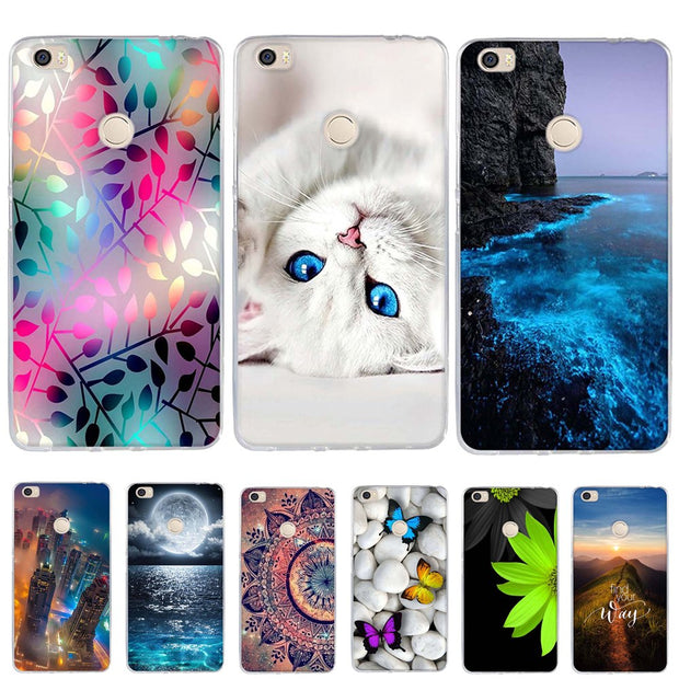 "For Xiaomi Mi MAX Case Cover 6.44"" Funda For Xiaomi Mi Max Cover Soft Silicone TPU Coque Phone Case For Xiaomi Mi Max Case Capas"