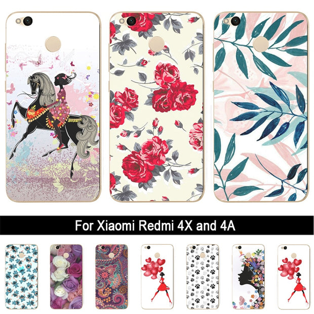 For Xiaomi Redmi 4X Case Silicone For Xiaomi Redmi 4A Case For Xiaomi Redmi Note 4 4X Note 3 Case For Xiaomi Redmi Note 4X Cover