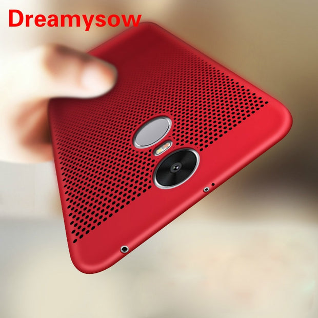 For Xiaomi Redmi 6 Pro 6A 5A 5 Plus Case Ultra Slim Grid Heat Dissipate Case For Xiaomi Redmi Note 4X 5 Pro Mi8 SE F1 A2 Lite A1