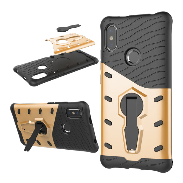 For Xiaomi Redmi S2 Case Luxury Shockproof BAGS SKIN CAPA Back Cover For Xiaomi Redmi S2 S 2 Case FUNDAS COQUE BAGS KICKSTAND