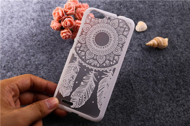 For ZTE Blade V6 D6 Cover Case Fashion Colored Painted Dream Catcher Flower Design Hard PC Case For ZTE Blade V6/ X7/ D6 T006