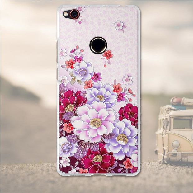For ZTE Nubia Z11 Case Silicone Cover For ZTE Z11 Cases 3D Relief Flower Soft TPU Mobile Phone Bag For ZTE Nubia Z11 Z 11 Case
