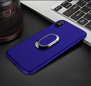 For IPhone 6 6s 6P 6sP 7 7P 8 8P X XS XR XSMAX Mobile Phone Protective Case With Ring Buckle Magnetic Holder TPU Phone Case