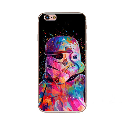 For IPhone 6 Plus 6s Plus Phone Cases Cool Star Wars Ironman Captain American Shield Design Soft Silicone Case Cover Funda Coque