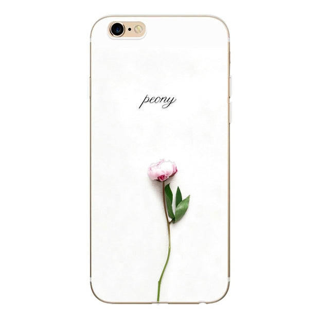 For IPhone 7 8 Plus Case Newest Thin Silicone TPU Flower Pattern Coque Soft Phone Cases For IPhone 6 6S 5 5S SE Case Cover