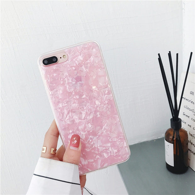 For IPhone 8 Case Pouzdro Fashion Ultra Thin Conch Shell Pattern Squishy Soft Case Cover For IPhone 8 Plus Etui Fundas Coque