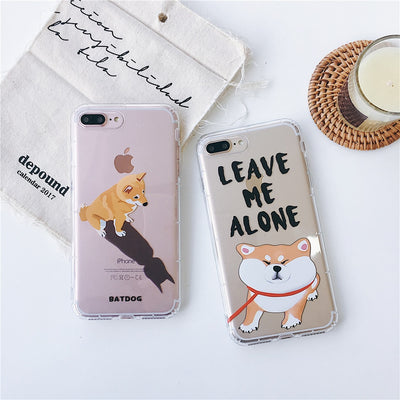 For IPhone X XR Xs Max Cute Shiba Inu Batman Dog Case For IPhone 8 7 6 6S Plus Funny Cartoon Slim Silicone TPU Cover Pet Fundas