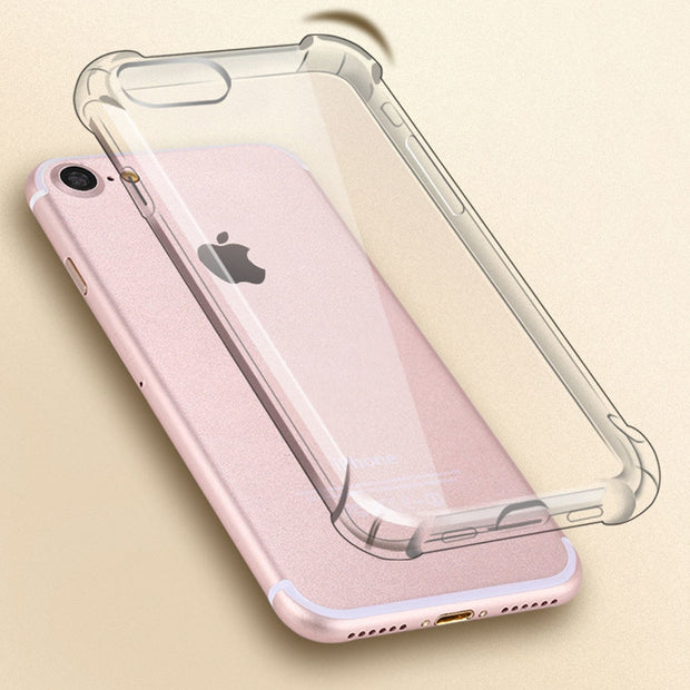 For IPhone X XS MAX 6 6S 7 8 Plus Silicone TPU Back Cover Full Protective Clear Case Case Anti-knock Shock Proof For IPhone XR